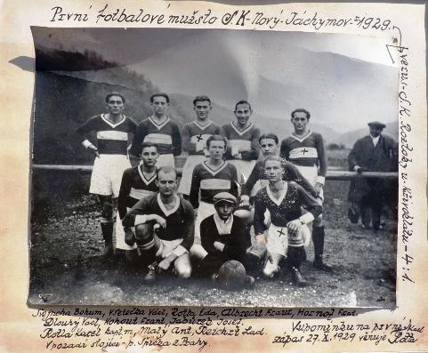 ... první tým Nového Jáchymova z roku 1929 ...